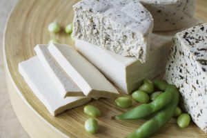 Tofu and blue cheese --- Image by © Kate Kunz/Corbis
